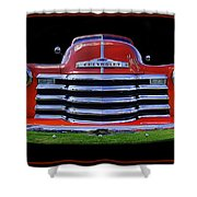 1948 Chevy Pickup W/badge Shower Curtain