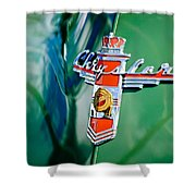 1948 Chrysler Town And Country Convertible Emblem -0974c Shower Curtain