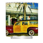 1948 Ford Woody Station Wagon Shower Curtain