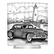 1948 Lincoln Continental Shower Curtain