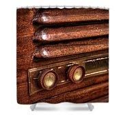 1948 Mantola Radio Shower Curtain