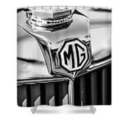 1948 Mg Tc Hood Ornament -767bw Shower Curtain