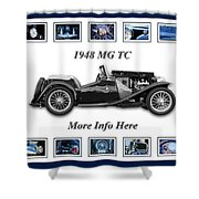 1948 Mg Tc Shower Curtain