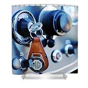1948 Mg Tc Key Ring Shower Curtain