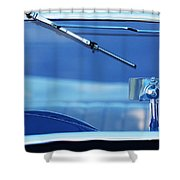 1948 Mg Tc Rear View Mirror Shower Curtain