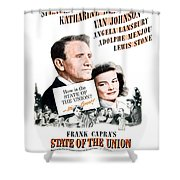 1948 - State Of The Union Motion Picture Poster - Spencer Tracy - Katherine Hepburn - Mgm - Color Shower Curtain
