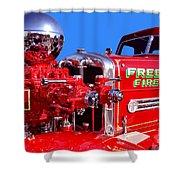 1949 Ahrens Fox Piston Pumper Fire Truck Shower Curtain