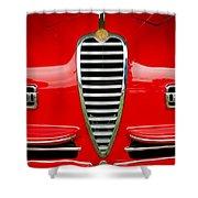 1949 Alfa Romeo 6c 2500 Ss Pininfarina Cabriolet Grille Shower Curtain