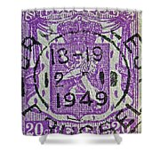 1949 Belgium Stamp - Brussels Cancelled Shower Curtain