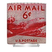 1949 Dc-4 Skymaster Air Mail Stamp Shower Curtain