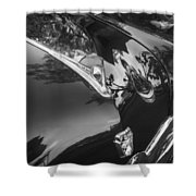 1949 Ford 2 Door Custom Painted Bw    Shower Curtain