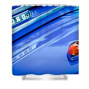 1949 Ford F-1 Pickup Truck Emblem -0027c Shower Curtain