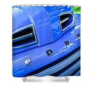 1949 Ford F-1 Pickup Truck Grille Emblem -0009c Shower Curtain