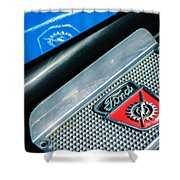 1949 Ford F-1 Pickup Truck Step Plate Emblem -0043c Shower Curtain