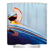 1949 Ford Hood Ornament 2 Shower Curtain