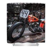 1949 Harley Davidson Shower Curtain
