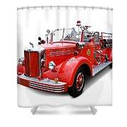 1949 Mack Fire Truck Shower Curtain
