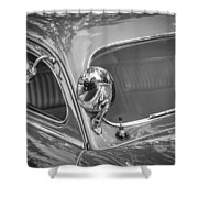 1949 Mercury Club Coupe Bw   Shower Curtain