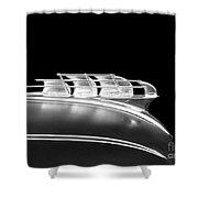 1949 Plymouth Schooner Hood Ornament 2 Shower Curtain