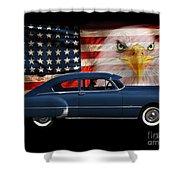 1949 Pontiac Tribute Roger Shower Curtain