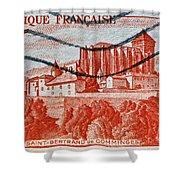 1949 Republique Francaise Stamp Shower Curtain