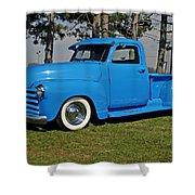 1950 Baby Blue Chevrolet Pu Shower Curtain