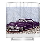 Chopped 1950 Cadillac Coupe De Ville Shower Curtain