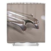 1950 Cadillac Flying Goddess Shower Curtain