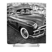 1950 Chevrolet Sedan Deluxe Painted Bw   Shower Curtain