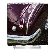 1950 Chevrolet Taillight And Bumper Shower Curtain