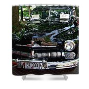 1950 Crysler Mercury Shower Curtain