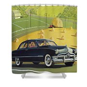 1950 Custom Ford - Square Format Image Picture Shower Curtain