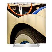 1950 Eddie Rochester Anderson Emil Diedt Roadster Steering Wheel Shower Curtain