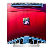 1950 Healey Silverston Sports Roadster Emblem Shower Curtain