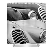 1950 Jaguar Xk120 Roadster Grille 2 Shower Curtain