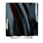 1950 Lincoln Cosmopolitan Henney Limousine Rear Emblem Shower Curtain