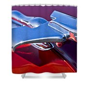 1950 Nash Hood Ornament Shower Curtain