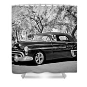 1950 Oldsmobile 88 -004bw Shower Curtain