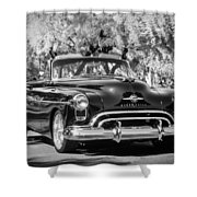 1950 Oldsmobile 88 -105bw Shower Curtain