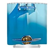 1950 Oldsmobile Hood Ornament Shower Curtain by Jill Reger