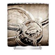 1950 Oldsmobile Rocket 88 Steering Wheel Emblem Shower Curtain