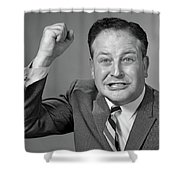 1950s 1960s Portrait Of Angry Man Shower Curtain