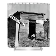 1950s Cocker Spaniel Puppy In Doghouse Shower Curtain