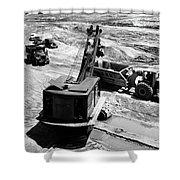 1950s Construction Site Excavation Shower Curtain