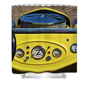 1950s Hot Road Dashboard At Antique Car Shower Curtain