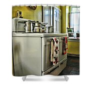 1950's Kitchen Stove Shower Curtain