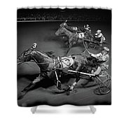 1950s Side View Of 3 Runners Shower Curtain