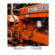 1950s-vintage Allis-chalmers D14 Tractor Shower Curtain