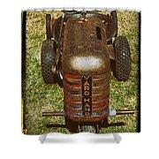 1950s Yard Hand Tractor Shower Curtain