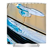 1951 Chevrolet Style Deluxe Grille Emblem Shower Curtain
